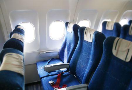 kabine: Sitz-Zeilen in ein Flugzeug-Kabine