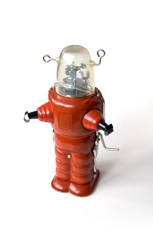 tin robot: Old metal robot - Vintage toy Stock Photo