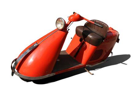 Vintage orange scooter isolated on white background Stock Photo - 5785019