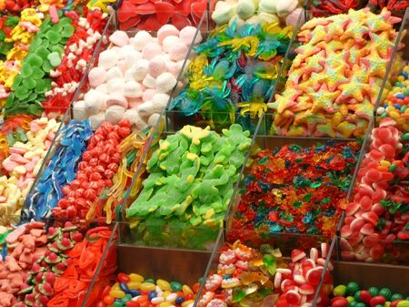Assorted colorful candies background Stock Photo - 5784842