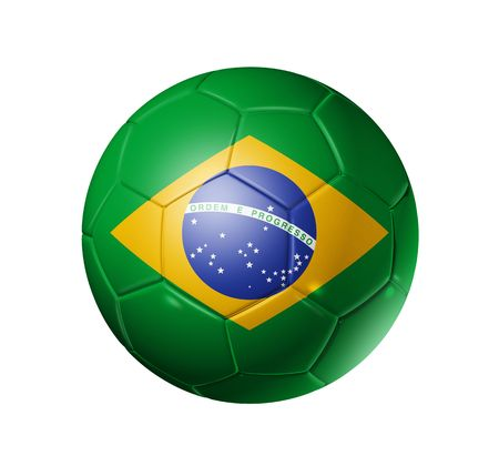 3D soccer ball with brazil flag, world football cup 2010. photo