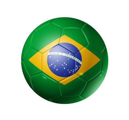 world cup: 3D soccer ball with brazil flag, world football cup 2010.