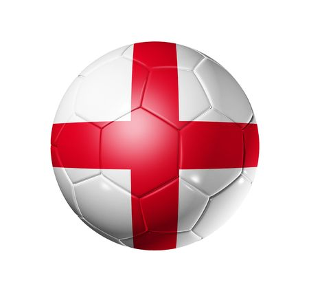 ball game: 3D soccer ball with England team flag, world football cup 2010 Stock Photo