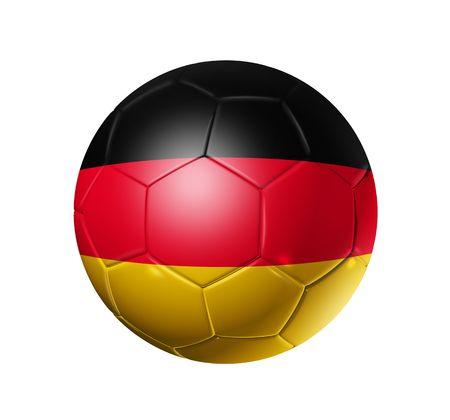 bandera alemania: Bal�n de f�tbol 3D con bandera de equipo de Alemania, la Copa Mundial de F�tbol 2010. Foto de archivo