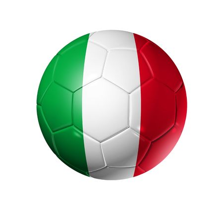 italia: 3D soccer ball with Italy team flag, world football cup 2010. Stock Photo