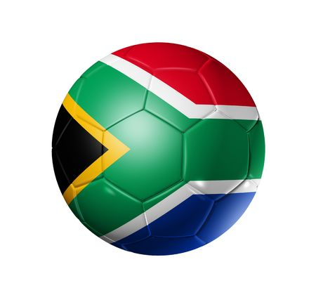 3D soccer ball with south africa flag, world football cup 2010. Stock Photo - 6262357