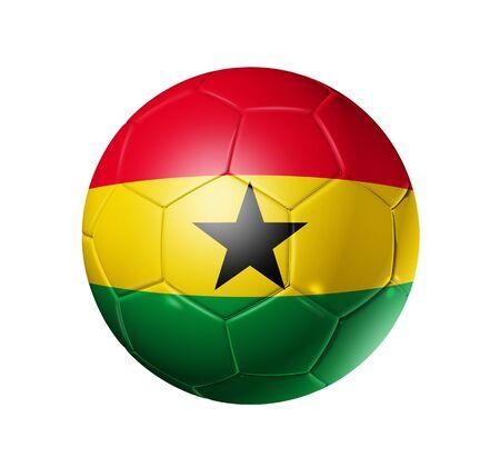 ghana: 3D soccer ball with Ghana team flag, world football cup 2010. Stock Photo