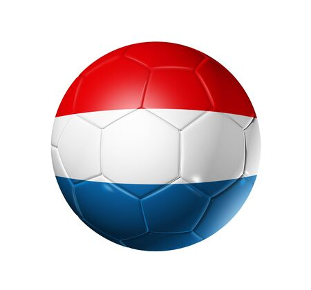dutch: 3D soccer ball with Netherlands team flag, world football cup 2010 Stock Photo