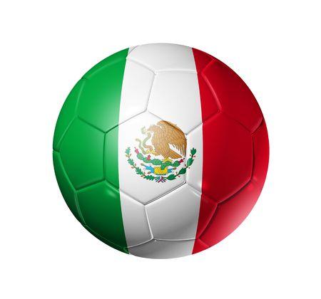 pelota de futbol: Pelota de f�tbol 3D con bandera de equipo de M�xico, la Copa Mundial de F�tbol 2010