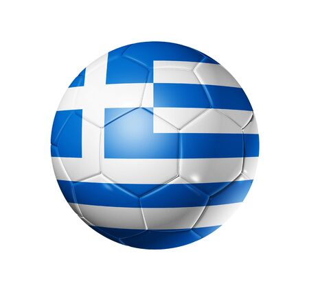soccer ball: 3D soccer ball with Greece team flag, world football cup 2010.  Stock Photo