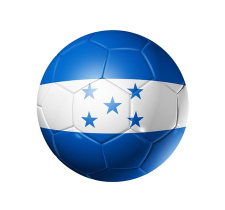 3D soccer ball with Honduras team flag, world football cup 2010.  photo