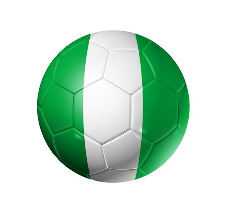 3D soccer ball with Nigeria team flag, world football cup 2010.  photo