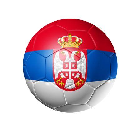 3D soccer ball with Serbia team flag, world football cup 2010. photo