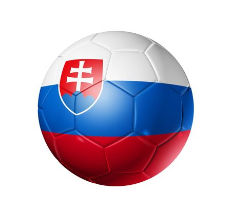 3D soccer ball with Slovakia team flag, world football cup 2010.  photo