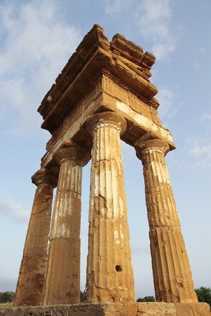antique greek temple in Agrigento, Sicily - Italy photo