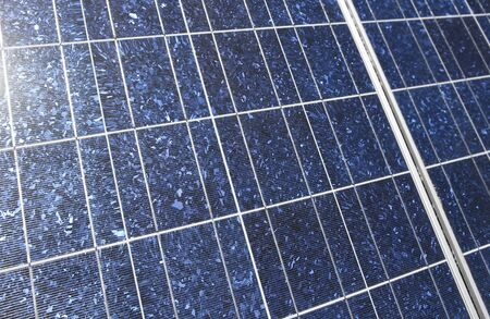 Solar panel detail. ecological solar power station photo