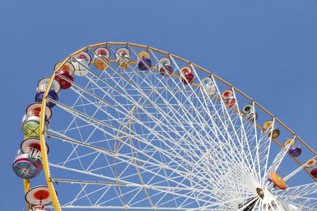 Ferris wheel in an amusement park against blue sky Stock Photo - 7402505