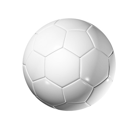 3D blank soccer ball isolated on white