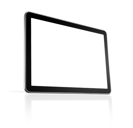 3D television, computer screen isolated on white  Stock Photo - 8022628