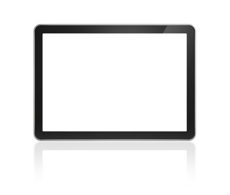 3D television, computer screen isolated on white Stock Photo - 8022630