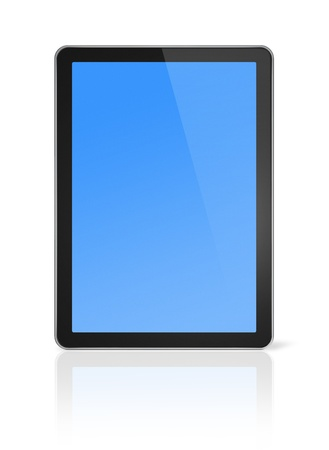 3D computer, digital Tablet pc, isolated on white with clipping path Stock Photo - 8418396