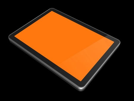 3D computer, digital Tablet pc, isolated on white with clipping path Stock Photo - 8418366