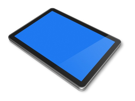 3D computer, digital Tablet pc, isolated  Stock Photo - 8604756