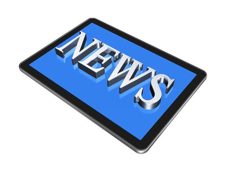 News in digital Tablet pc Stock Photo - 8859273