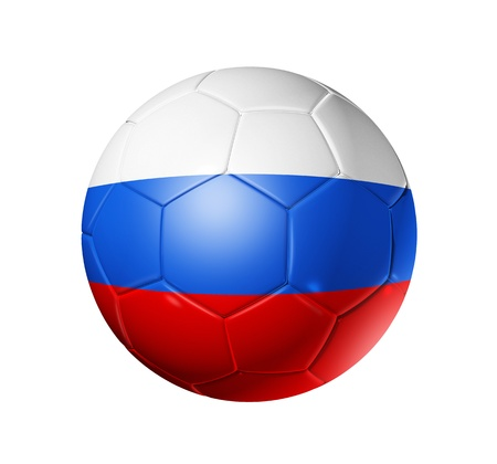 russian flag: 3D soccer ball with Russia team flag