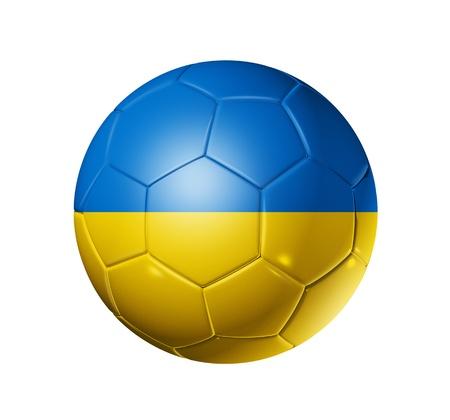 ukrainian flag: 3D soccer ball with Ukraine team flag Stock Photo