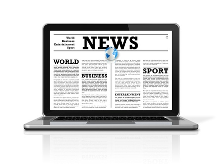 News on a laptop computer Stock Photo - 9622987