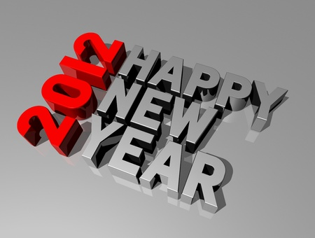 three dimensional 2011 happy new year message Stock Photo - 11213143