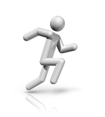 strichm�nnchen: dreidimensionale Leichtathletik Symbol Lizenzfreie Bilder