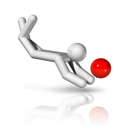 symbol sport: dreidimensionale Beachvolleyball Symbol