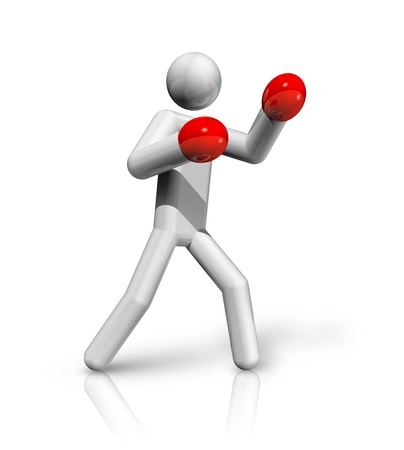 three dimensional: three dimensional boxing symbol Stock Photo