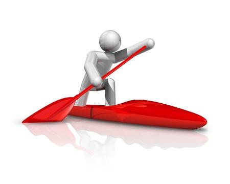 world sport event: three dimensional canoe sprint symbol