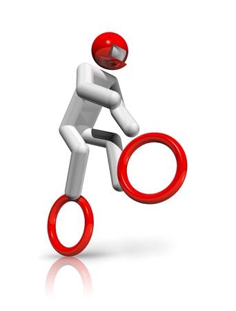 deportes olimpicos: s�mbolo de los tres dimensiones ciclismo BMX