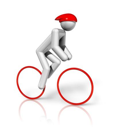 deportes olimpicos: tres ciclos de dimensiones s�mbolo de carreteras