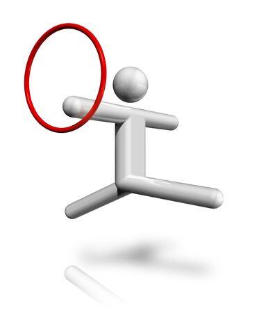 three dimensional: three dimensional gymnastics rhythmic symbol