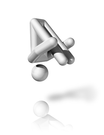 three dimensional gymnastics trampoline symbol photo