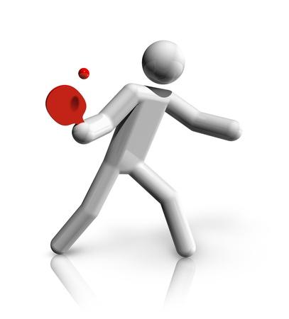 tischtennis: dreidimensionale Tischtennis Symbol