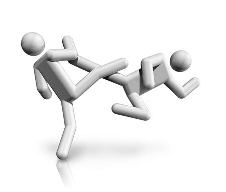 world sport event: three dimensional taekwondo symbol