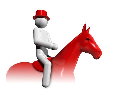 three dimensional equestrian dressage symbol, olympic sports series photo