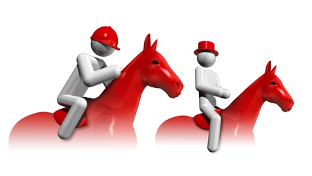 eventing: three dimensional equestrian eventing symbol, sports competition sports series Stock Photo