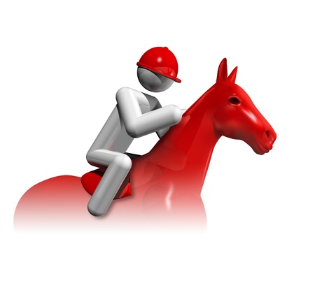 idea hurdle: three dimensional equestrian jumping symbol, sports competition sports series Stock Photo