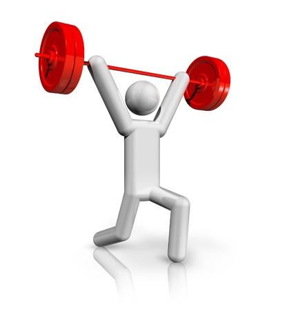 disciplina: s�mbolo de los tres dimensiones del levantamiento de pesas, deporte ol�mpico serie