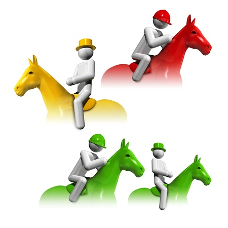sports symbols icons series 6 on 9, equestrian dressage, jumping, eventing photo