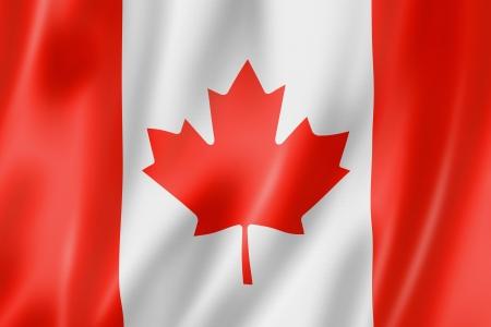 Canada vlag, driedimensionale render, satijnen structuur Stockfoto