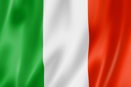 italy flag: Italy flag, three dimensional render, satin texture