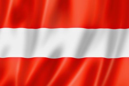 austrian flag: Austria flag, three dimensional render, satin texture